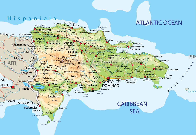 dominikanska republika mapa Stahujte materiály z Dominikánské republiky | Dominikánská  dominikanska republika mapa