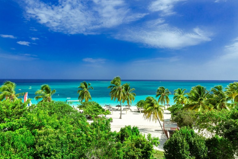 Krásná pláž provincie Holguín