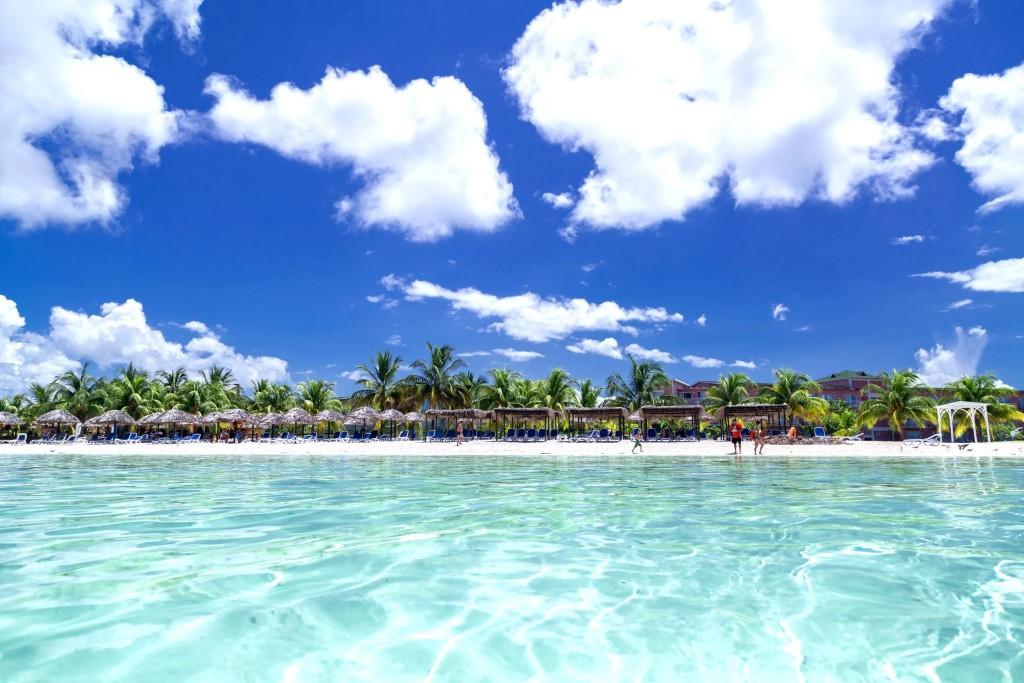 Pláž na Cayo Coco