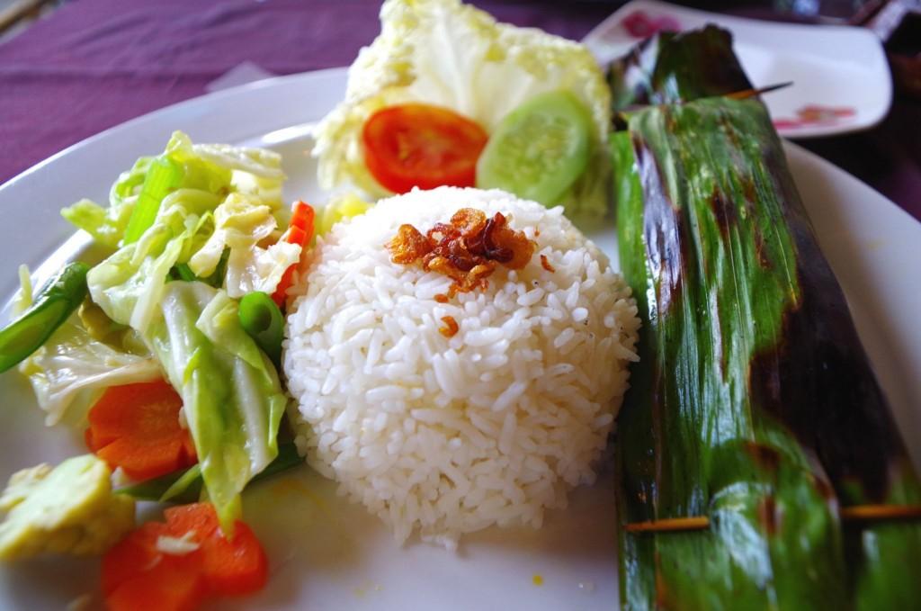 Typické balijské jídlo - barevné, zdravé, dobré a levné