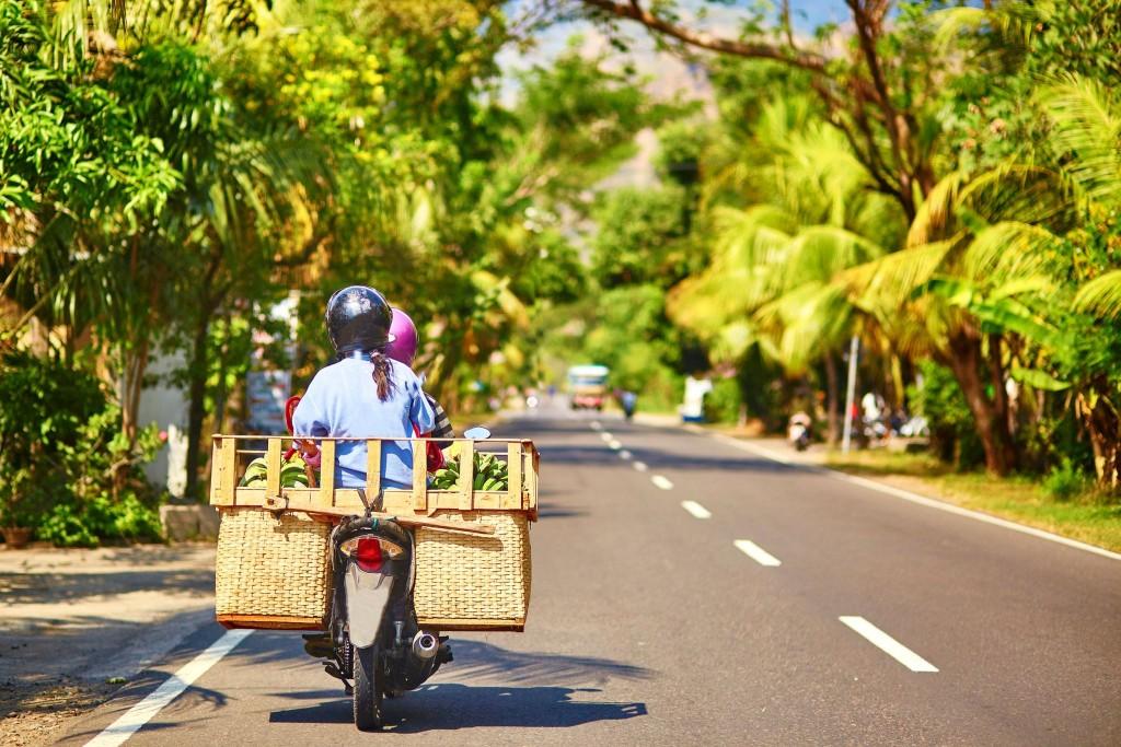 Typický balijský dopravní prostředek - motorka
