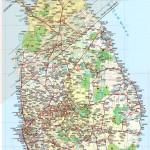 Detailní turistická mapa Srí Lanky