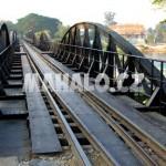 Most přes řeku Kwae v Kanchanaburi