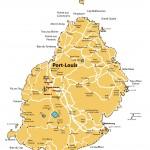 Orientační mapa Mauricia