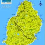 Orientační mapa Mauricius
