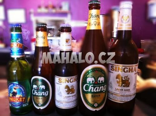 Thajská piva: Chang, Singha, Leo, Phuket