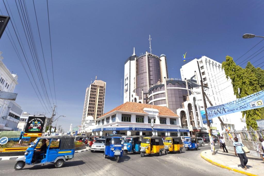 Bohatá obchodní čtvrť Mombasy