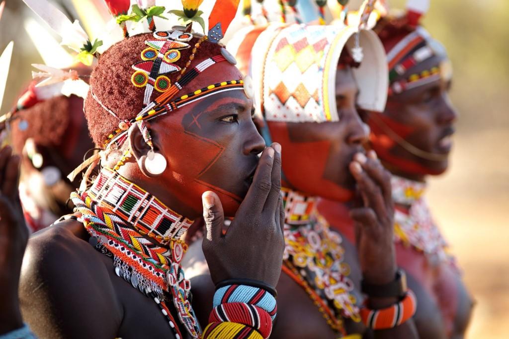 Bojovníci kmene Samburů