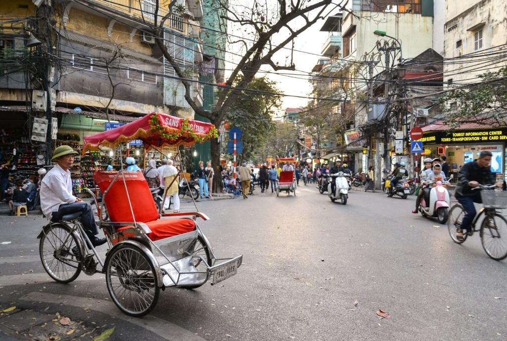 Cyclo taxi ve Vietnamu