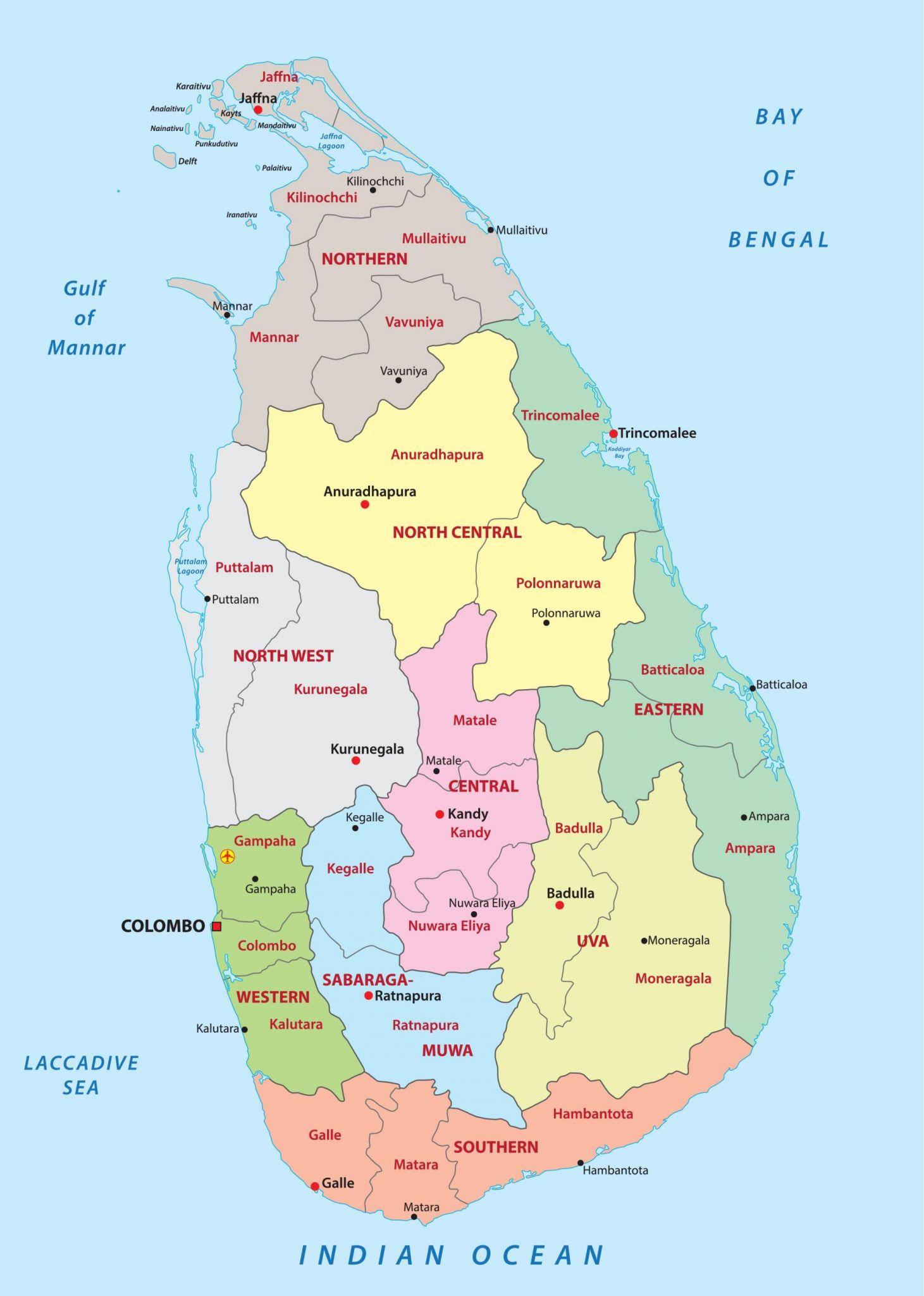 Sri Lanka Mapa Map Of Sri Lanka 2020 08 07