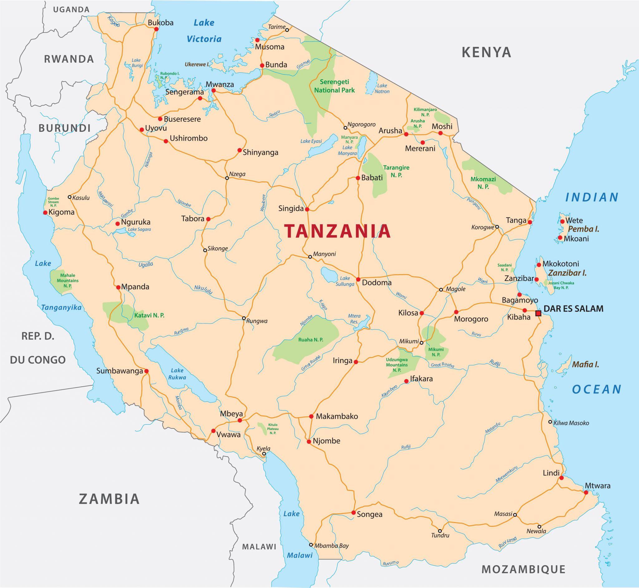 Zakladni Informace O Tanzanii Tanzanie Mahalo Cz