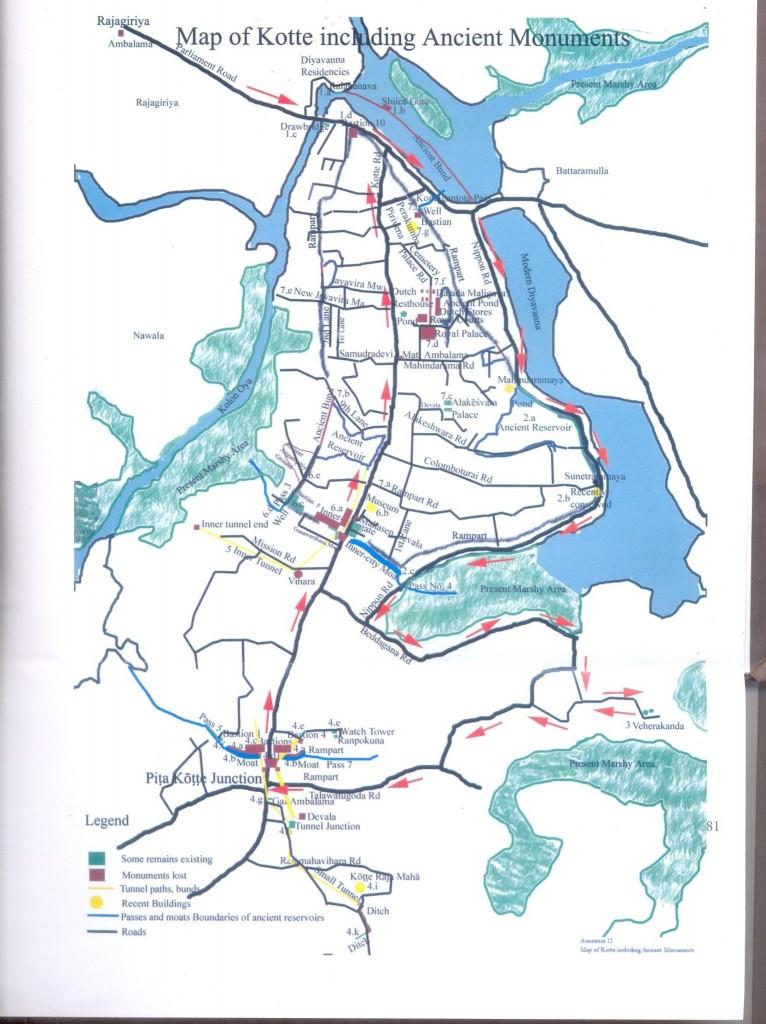 Mappa Šrí Džajavardanapura Kotte