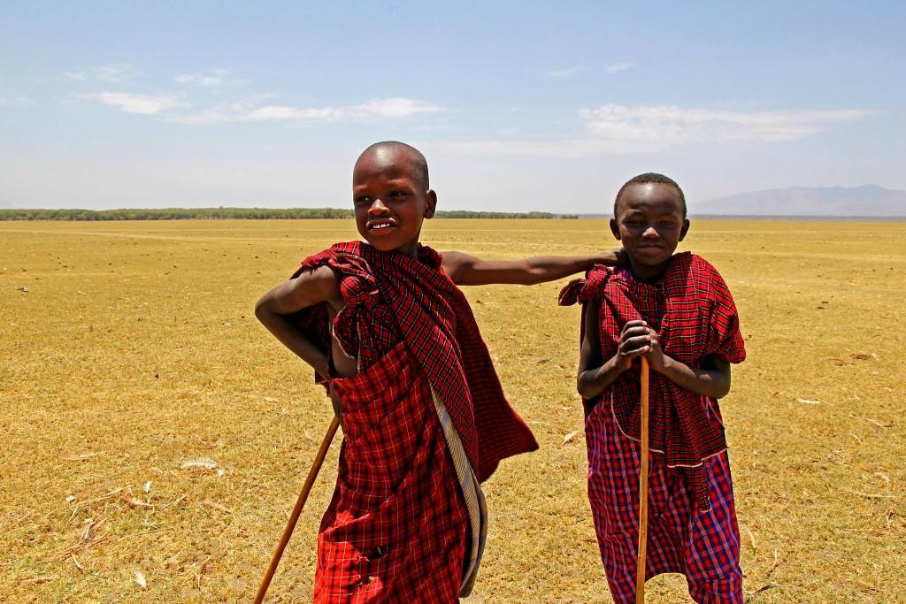 Masajové v národním parku Arusha