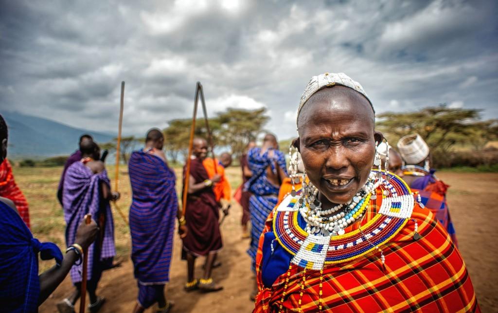 Masajové v národním parku Masai Mara