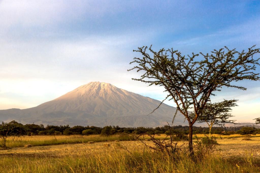 Národní park Arusha - výhled na Mt. Meru