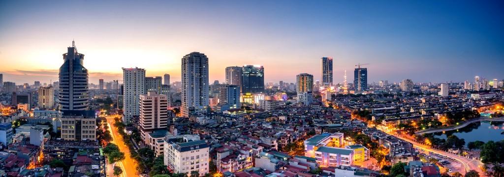 Panorama moderní části města Hanoj (Hanoi)