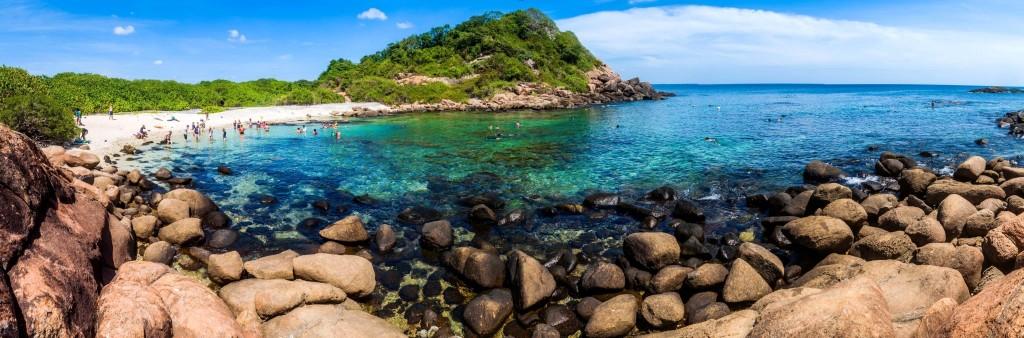 Pigeon island poblíž Trincomalee