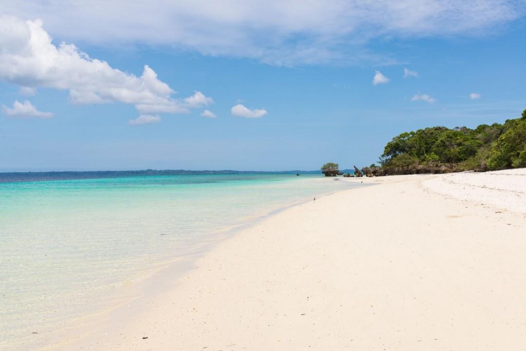 Pláž na ostrově Pemba