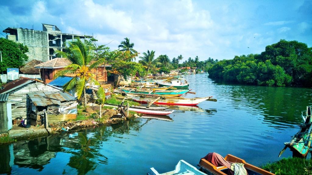 Rybářská vesnice v Negombu