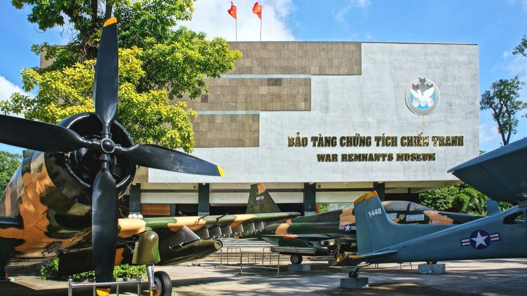 Válečné muzeum v Ho Chi Minově městě
