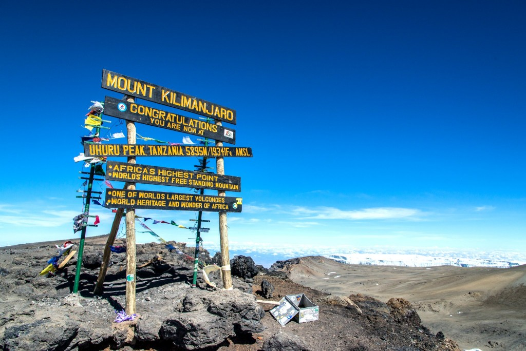Vrchol Kilimandžára = vrchol Afriky