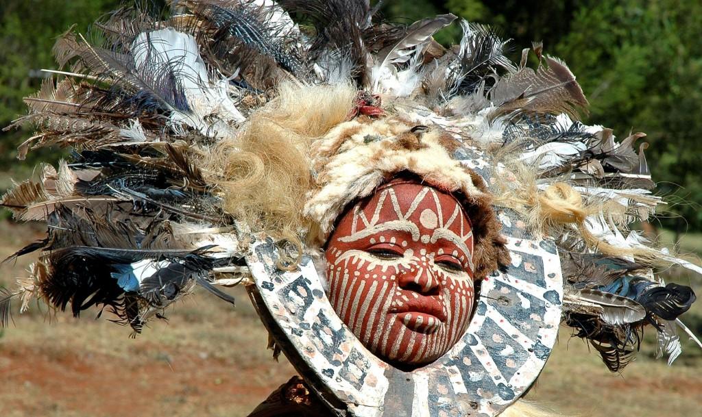 Žena z kmene Kikujů