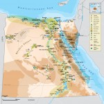 Mapa Egypta - turistický plánek