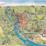 Mapa - Turistický plánek Káhiry