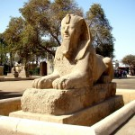 Alabastrová sfinga v Memfisu