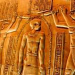 Hieroglyfy v chrámu Kóm Ombo