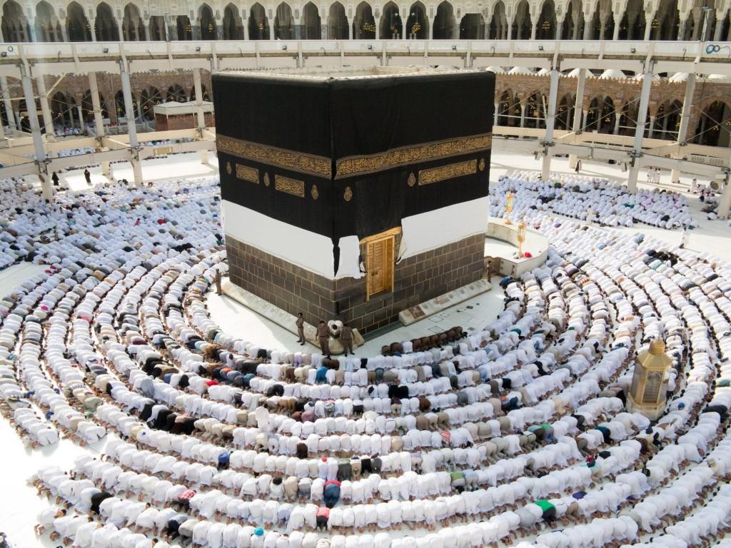 Modlitba v Mecce - centru Islámu