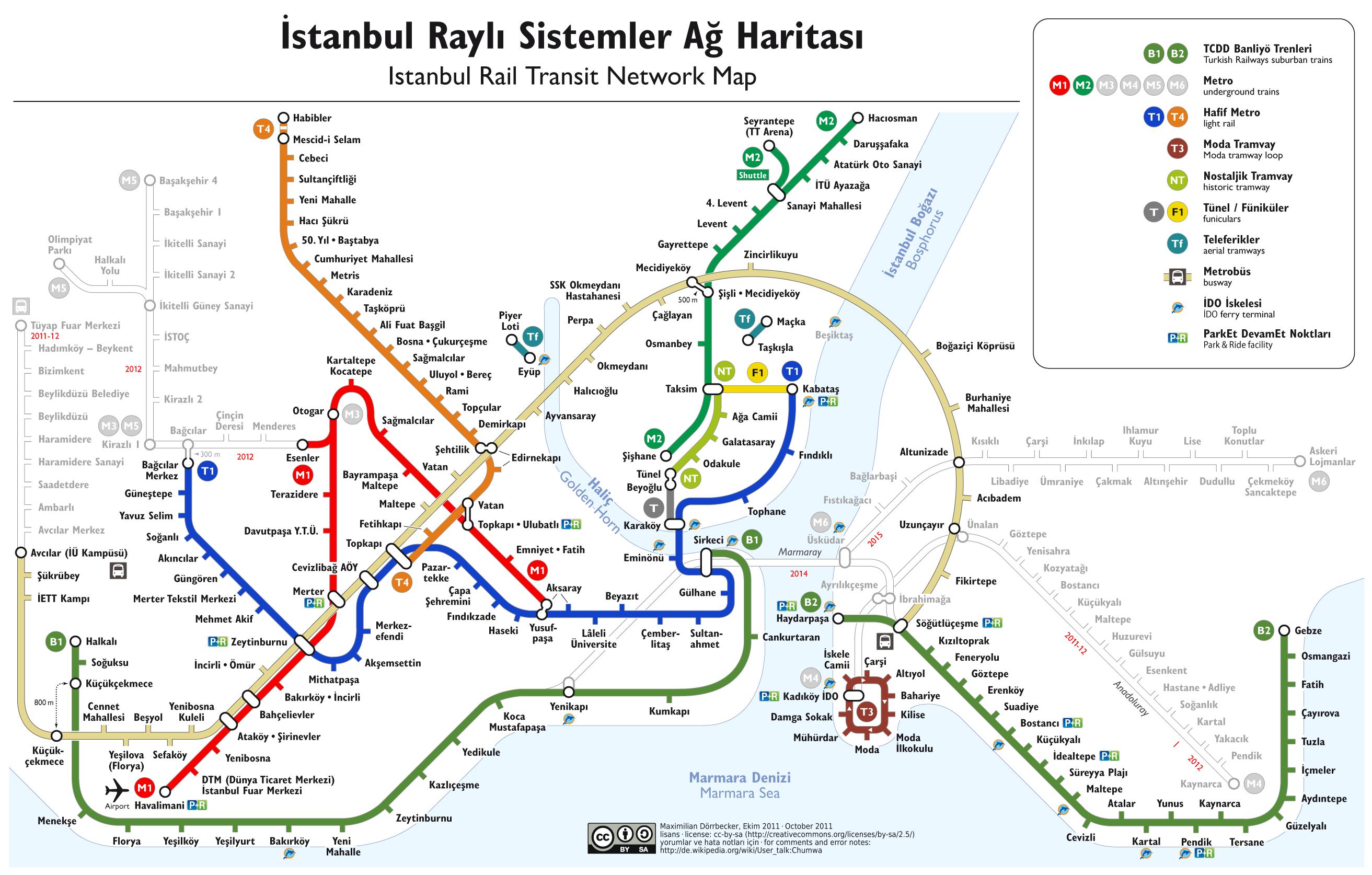 Istanbul Metro Map Turkey