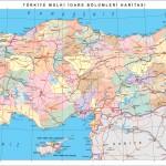 Mapa - administrativní mapa Turecka