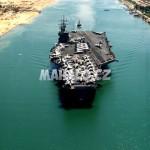Suezský průplav - letadlová loď