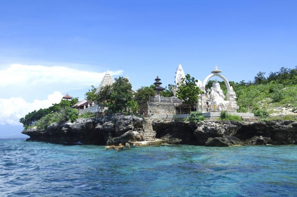 Chrám zasvěcený Ganéšovi na ostrově Menjangan