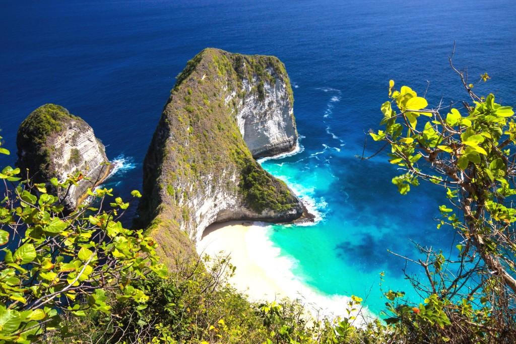 Manta Bay na ostrově Nusa Penida
