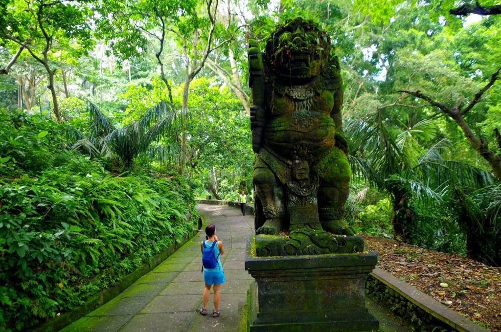 Monkey Forest - opičí les v Ubudu