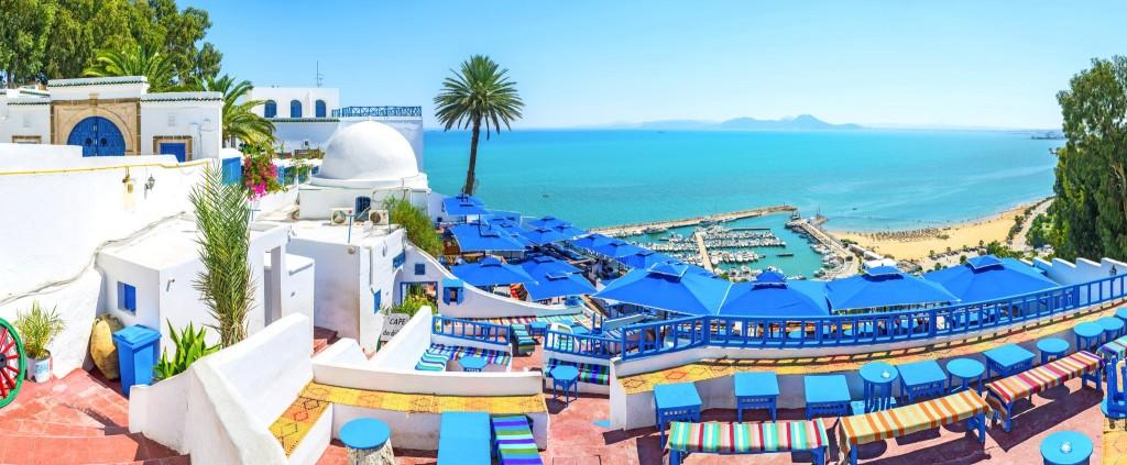 Nádherný výhled v Sidi Bou Said