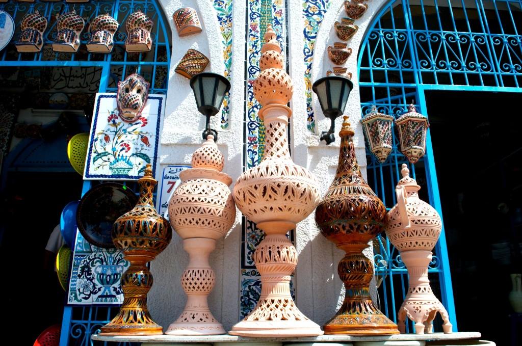 Proslulá keramika ve městě Nabeul
