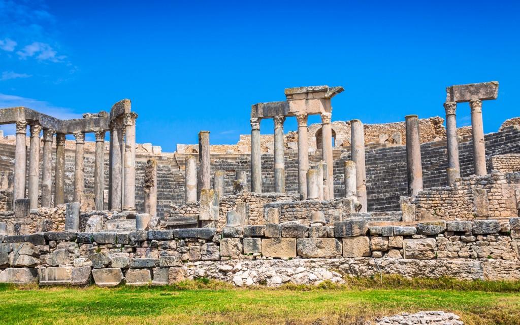 Římské divadlo ve městě Dougga