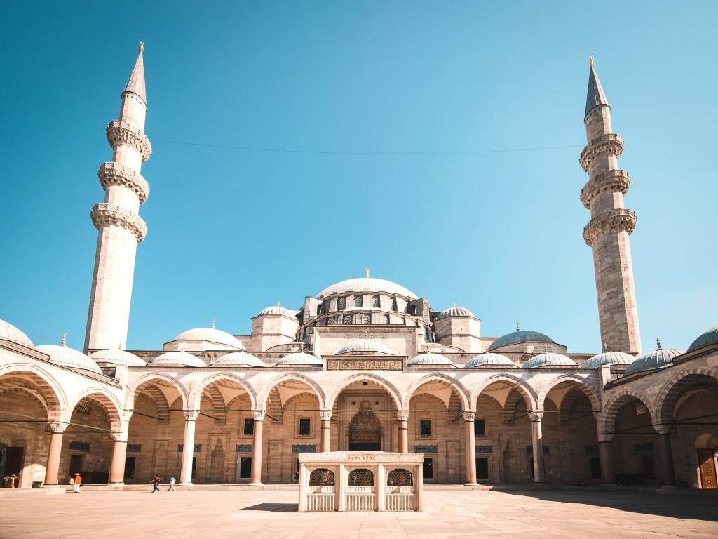 Sulejmanova mešita ve městě Istanbul