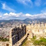 Výhled z hradu města Alanya