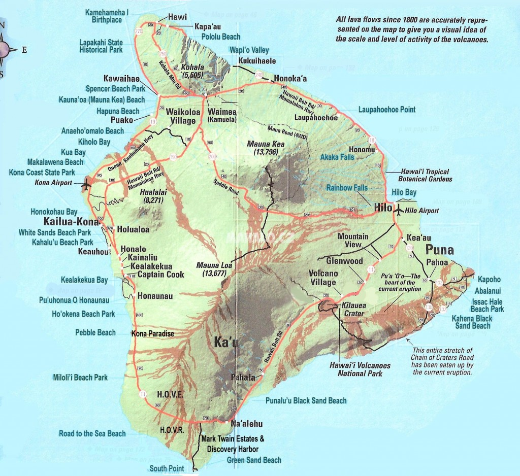 Big island - mapa