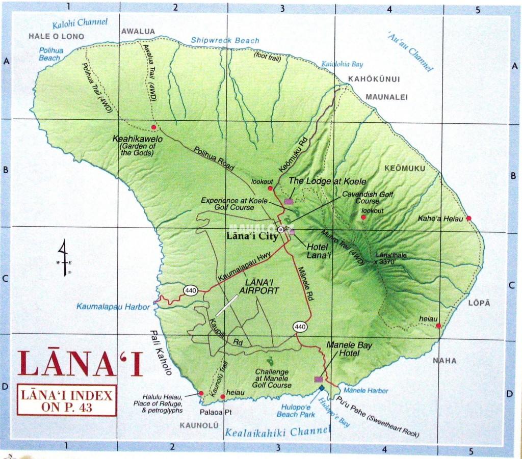 Lanai - mapa