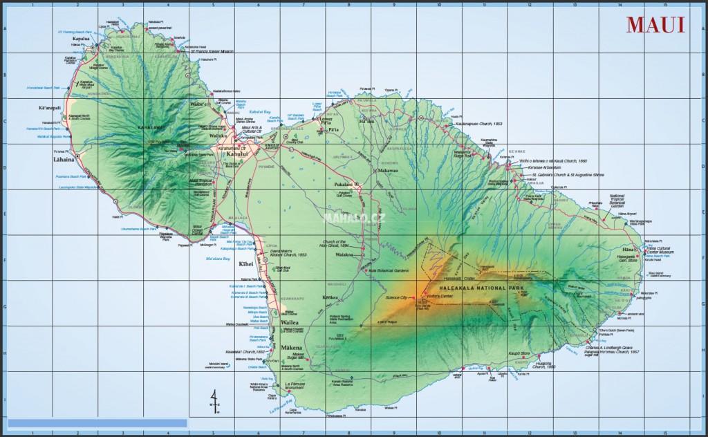 Maui - mapa