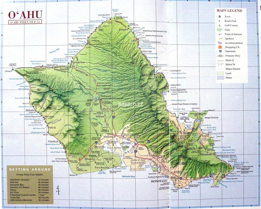Topographic Map Oahu.All About Topographic Map Of Hawaii Maps Of World Www Kidskunst Info