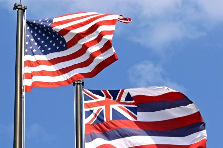 Americká a havajská vlajka