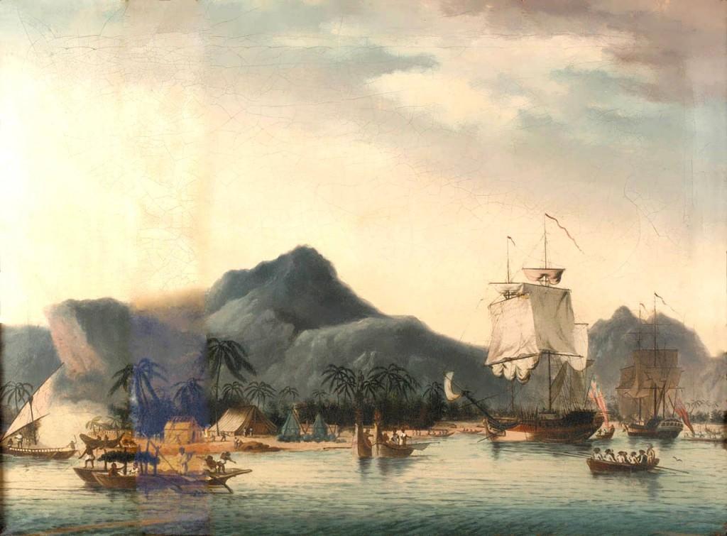Evropané objevují ráj - Havajské ostrovy