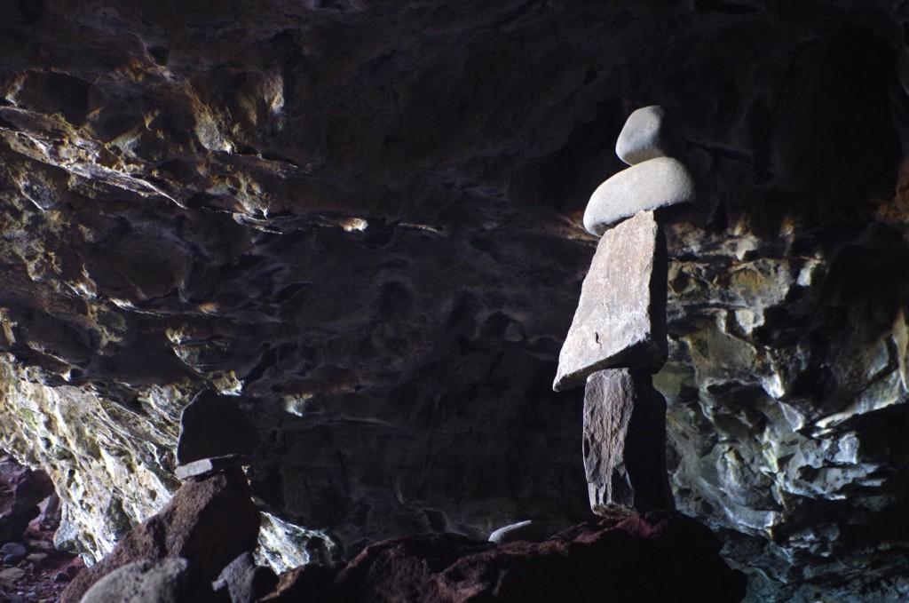 Jeskyně na konci Kalalau Beach