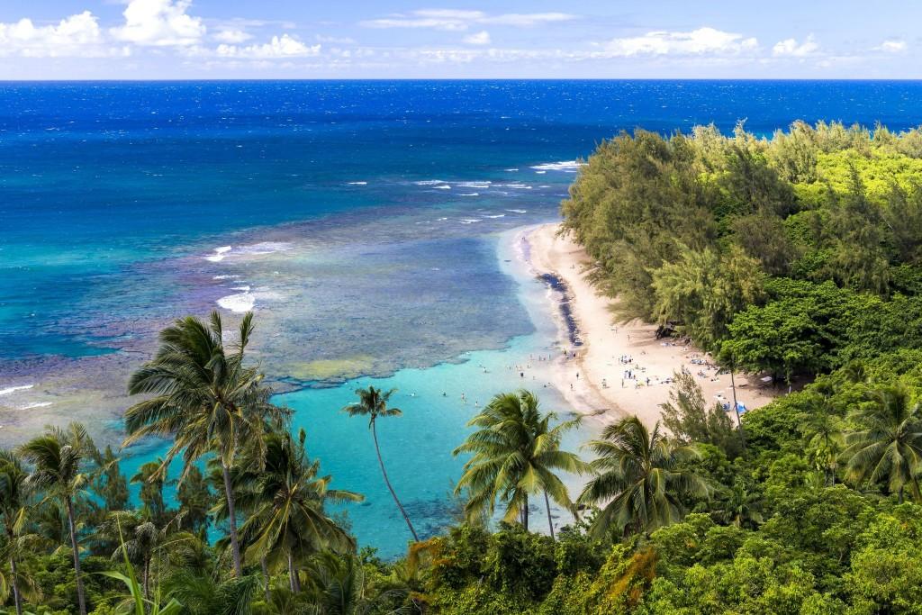 Ke'e Beach na ostrově Kauai